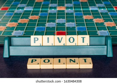 Littlehampton, West Sussex, UK, January 26, 2020. Pivot Point is a technical analysis indicator that can give an early sign of price direction before the price moves.