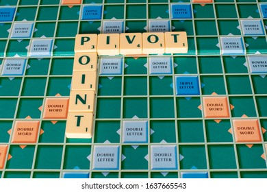 Littlehampton, West Sussex, UK, January 26, 2020. Pivot Point is a technical chart indicator that can give an early sign of price direction before the price moves.
