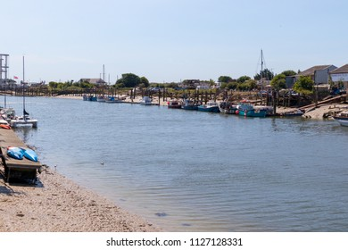 LITTLEHAMPTON, WEST SUSSEX/UK - JULY 3 : View of the River Arun estuary at Littlehampton on July 3, 2018