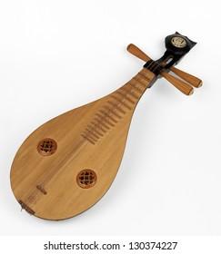 a liuqin a three stringed, Chinese lute