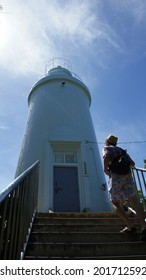 Liuqiu Township, Taiwan - JUNE 28, 2014, White Lighthouse at Liuqiu Township, Taiwan