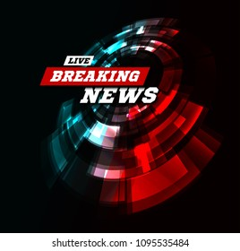Live Breaking News Can be used as design for television news or Internet media.