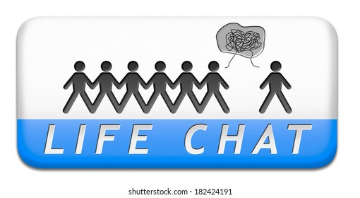 live chat icon or button online chatting sign