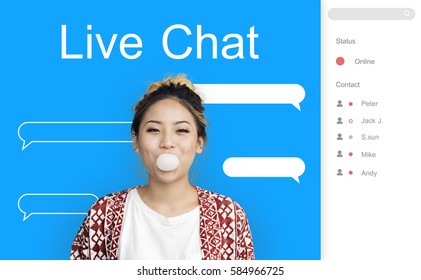 Live Chat Interface Communication Icon
