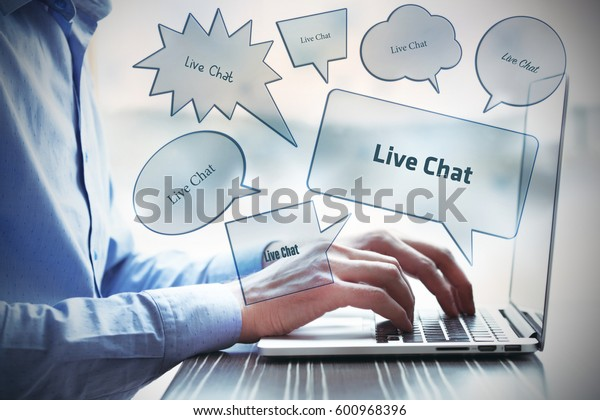 Live Chat, Technology Concept