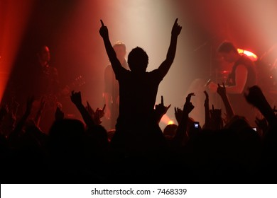 Live concert - the band and the crowd