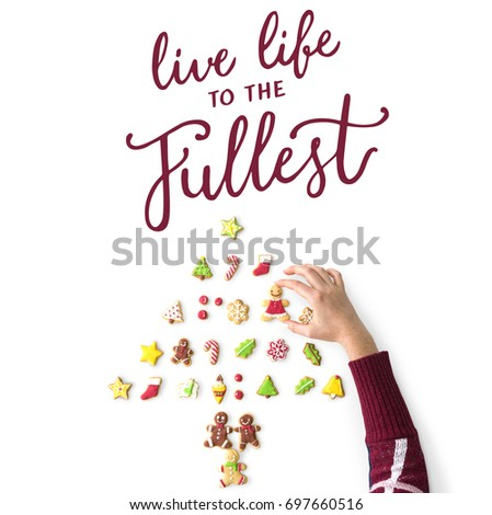Live Life Fullest Quote Message Stock Photo Edit Now 697660516