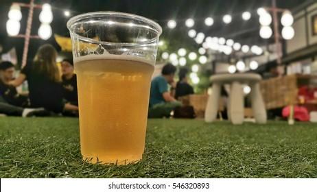 Live outdoor beer garden