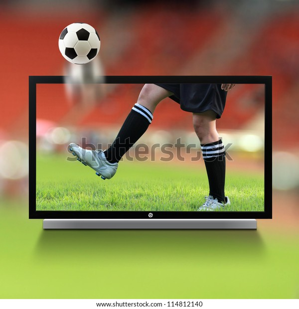 Live Soccer On Tv Stock Photo (Edit Now) 114812140