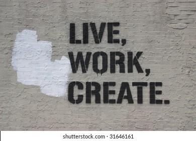 live work create wallpaper on the street