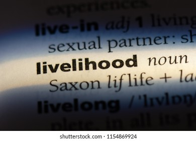 livelihood word in a dictionary. livelihood concept.