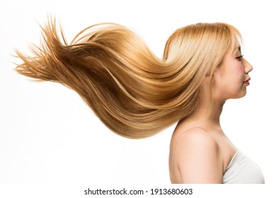 Lively hair on a white background.
