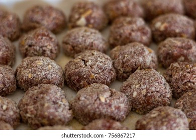 liver balls ready to cooking in the soup