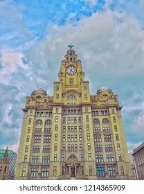 Liver Building in Liverpool,UK.
