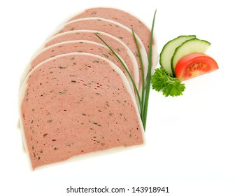 Liver Pate on white background