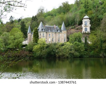 Liverdun, Meurthe et Moselle/France - 04/25/2019 : Castle of the Flie in Liverdun on the Moselle River. Department Meurthe and Moselle.