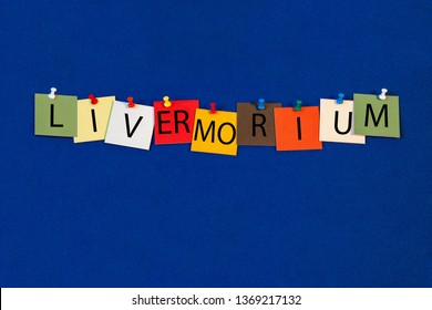 Livermorium – one of a complete periodic table series of element names - educational sign or design for teaching chemistry.