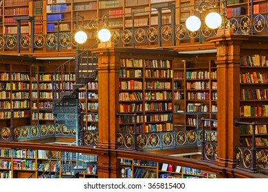 LIVERPOOL 16TH JANUARY 2016. Picton Reading Room inside Liverpool Central Library. LIVERPOOL UK