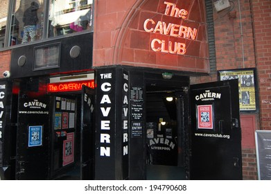 LIVERPOOL - April 5: the entrance to the Cavern Club in Liverpool, UK on April 5, 2012. The Cavern Club is famous for where The Beatles played in the early 1960s.