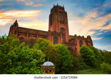 Liverpool Cathedral or the Cathedral Church of the Risen Christ, Liverpool in UK