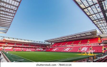 Liverpool, England - December 11, 2017: The Anfield Stadium, Liverpool.