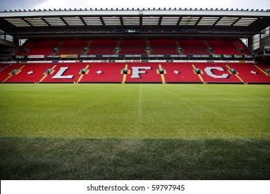 LIVERPOOL, ENGLAND - JUNE 5: Anfield stadium on June 5, 2009 in Liverpool, England. Anfield is home of Liverpool football club