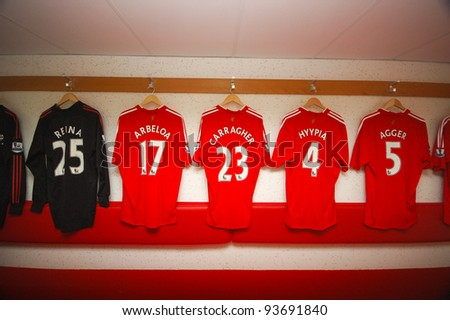 92605b86f LIVERPOOL ENGLAND JUNE 5 Player Changing Stock Photo (Edit Now ...