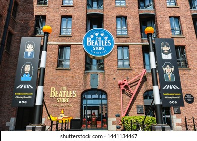 LIVERPOOL, ENGLAND - MAY 13, 2019 : The Beatles Story is a visitor attraction dedicated to the 1960s rock group The Beatles in Liverpool