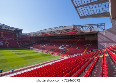 LIVERPOOL, ENGLAND - May 7, 2017 : This is Anfield, Home stadium of Liverpool Football Club, Liverpool, England, United Kingdom