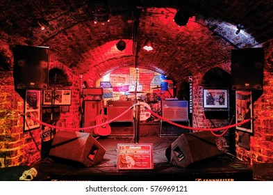 LIVERPOOL, ENGLAND, UK - December 10, 2014 : Cavern Club. The Cavern Club nightclub birth place of the Beatles is a nightclub at 10 Mathew Street, in Liverpool, England.