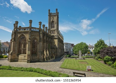 LIVERPOOL, ENGLAND, UK - JUNE 07, 2017: Liverpool Cathedral aka Cathedral Church of Christ or Cathedral Church of the Risen Christ on St James Mount in Liverpool, UK.