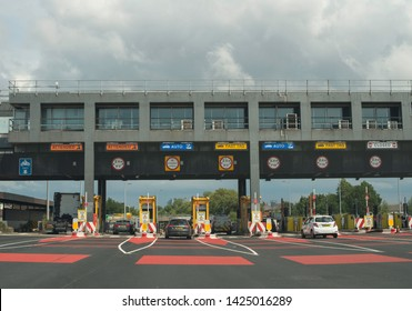 Liverpool England UK June 10 2019 the mersey tunnel toll booths station
