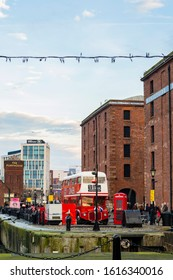 Liverpool, England, United Kingdom - 12 29 2019: Lively Day at Royal Albert Dock