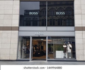 Liverpool, Merseyside. UK 07/10/2019 Hugo Boss store exterior.