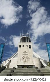 Liverpool Metropolitan Cathedral, Metropolitan Cathedral of Christ the King - Liverpool, Merseyside, UK - 24th June 2014