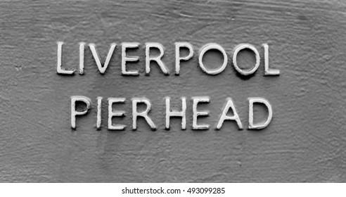 Liverpool Pier-head sign