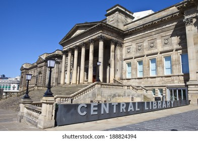 LIVERPOOL, UK - APRIL 18TH 2014: The Central Library in Liverpool on 18th April 2014.