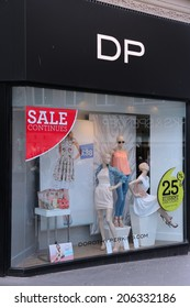 LIVERPOOL, UK - APRIL 20, 2013: Dorothy Perkins store in Liverpool, UK.  DP brand dates back to 1919, has more than 500 UK stores and many international outlets.