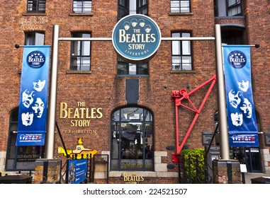 LIVERPOOL, UK - JULY 26, 2014: The Beatles Story is a visitor attraction dedicated to the 1960s rock group The Beatles in Liverpool.
