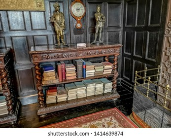 LIVERPOOL, UK - JUNE 01, 2019: View of the interior of Speke Hall which is a black and white wood-framed wattle-and-daub Tudor manor house in Speke, Liverpool, England.