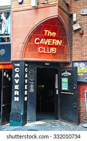 LIVERPOOL, UK - JUNE 11, 2015 - Entrance to the Cavern Club at 10 Mathew Street, The Cavern Quarter, Liverpool, Merseyside, England, UK, Western Europe, June 11, 2015.