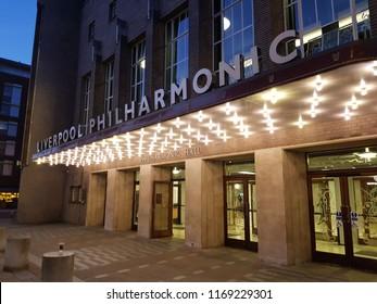 Liverpool UK June 28 2018 Liverpool Philharmonic Hall home of the Royal Liverpool Philharmonic Society