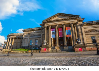 Liverpool, UK - May 17 2018: Walker Art Gallery at William Brown Street in Liverpool City centre, one of the largest art collections in England dates from 1819