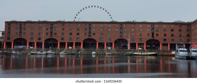 Liverpool UK May 25 2018 Liverpool Albert Dock showing two Royal Navy boats