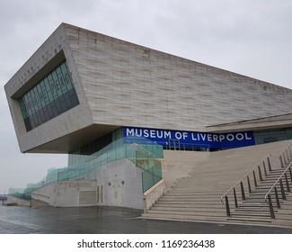 Liverpool UK May 25 2018 Liverpool Albert Dock showing the museum