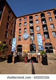 LIVERPOOL, UK - SEP 15: The Beatles Story, opened since May 1990 in Albert Dock, Liverpool, gives guests an exciting journey into the life, times, culture and music of the Beatles. Sep 15, 2011.