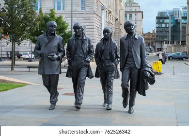 LIVERPOOL, UK - SEPTEMBER 16, 2017: Bronze State Of Beatles