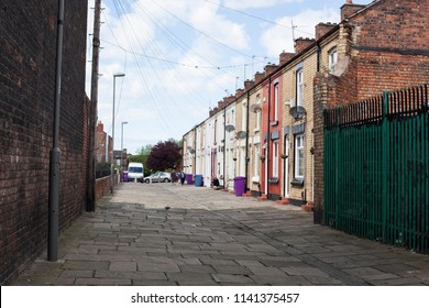 Liverpool, United Kingdom - 6 May 2014: Admiral Grove a famous street in Liverpool where Ringo Starr lived in the 60s