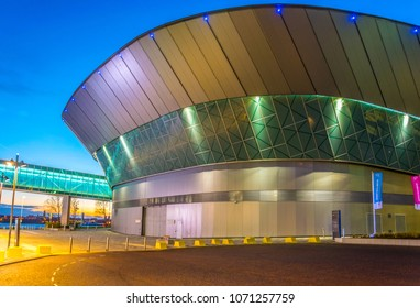 LIVERPOOL, UNITED KINGDOM, APRIL 5, 2017: View of the ECHO convention center in Liverpool, England