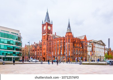 LIVERPOOL, UNITED KINGDOM, APRIL 6, 2017: View of the Victoria gallery of the University of Liverpool, England